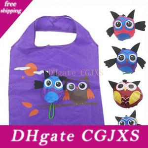 2018 Cute Animal Owl Form Folding Einkaufstasche Eco Friendly Damen Geschenk faltbare mehrfachverwendbare Einkaufstasche tragbare Reise-Umhängetasche