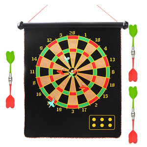 12 15 17 Inches Magnetic Dart Board Darts Suit Double Sided Flocking Dartboards Darts Plate of Safety Dart Safety Game Board Toy T200717