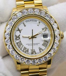 Алмазы часов A2813 18K мужского президент Day-Date бриллиантовых часов мужчину автоматический сапфировые оригинального механические наручные часы
