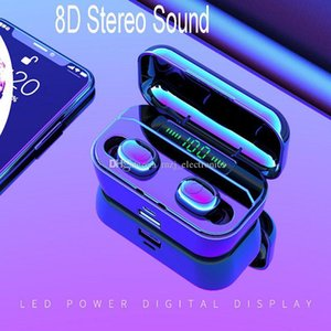 wireless bluetooth headphones G6S 3 Generation V5.0 LED digital power display 2200mAh charging case earbuds bracket and charger for phones