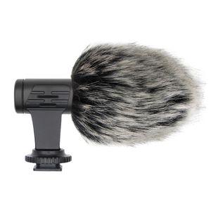 Mikrofon Mini Portable 3,5-mm-Schnittstelle Video-Kamera-Interview-Digitalkamera-Mikrofon mit Muff für iPhone Samsung Smartphone Mic