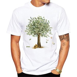 2019 Designing Money Grows On Trees T-Shirt Men's New Homme T Shirt Standard White 100% Cotton Top Quality
