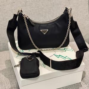 2020 hochwertige Designer-Taschen Frauen Umhängetasche Reedition 2005 echte Nylongeldbeutel Damehandtaschen Geldbörse Tote-Schulterbeutel Hobo