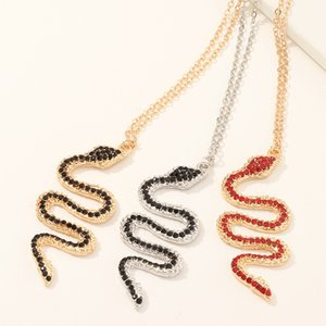 More color snake necklace Aesthetic Snake Necklace Choker Women Collier Femme Statement Crystal Iced Out Chain Jewelry Prom Gold Gothic