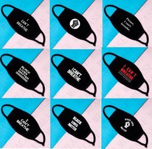 I Can't Breathe Cotton Face Mask Unisex Mouth-muffle Covers Black Lives Matter Print Dustproof Double Layer Washable Reusable Masks D77 Chhc