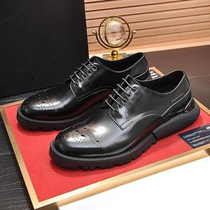 Fast Delivery Derby Shoes Breathable Mens Shoes Style Vintage Leather Dress Autumn And Winter Sneakers Formal Party Office Wedding Shoes