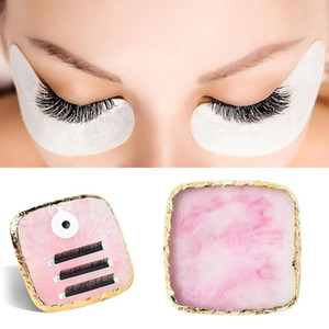 1 pcs New False Eyelash Extension Stand Pallet Pad Resin Square Lashes Glue Holder For Fake Eyelashes Extension Makeup Tools Hot