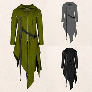 Men Slim Fit Stylish Solid Color Jacket Law Cosplay Costume Long Jacket Coat Cloak Halloween Costumes S-4XL