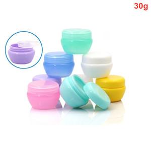 300 X 30g nachfüllbare Plastikpilzform Gesichtscreme Jar Lotion kosmetische Flasche Container Löffel Tragbarer Probenlagerung Jars