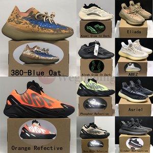Kutu kanye ile Azael Alvah 380 Mist Mavi Yulaf Yansıtıcı yabancı Yecher Koşu Ayakkabı Açık spor womens v3 700 Fosfor Kemik erkek spor ayakkabısı