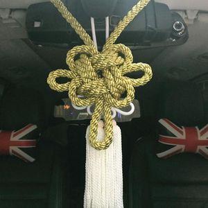 Charms Um conjunto JP junção produzir novos Modelo 10 Ouro Kintsuna Branco Kiku Knot Car Espelho da Sorte