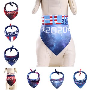 Hot Dog Collars Trump Neckerchief Bibs Scarfs Accessories Pet Cats Baby Puppies Triangle Saliva Towel Triangular binder 100pcs T1I2139