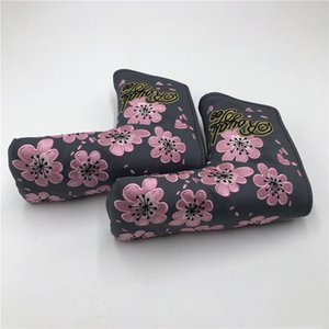 One Piece New Golf Club Putter Headcover Beautiful cherry blossoms High Quality For Golf Head Cover Free Shipping