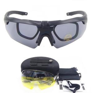 Поляризованные TR90 военные очки 3/5 Lens Ballistic Военные Спорт Мужчины солнцезащитные очки Army Пуленепробиваемый очки съемки MX200619