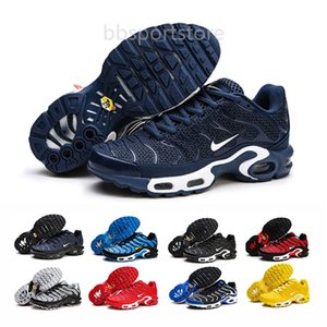 New Arrive Fashion Mens Tn Plus Chaussures Homme Tns SE NIC QS Men Running Shoes Basket TN Requin Sports Sneakers Size 40-46 LAGF8