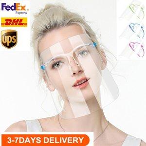 US STOCK face Escudo Óculos reutilizável Goggle Faceshield Adulto / Kids visor transparente Anti-Fog camada dos olhos Proteger