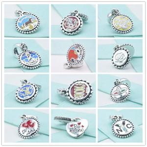 100% 925 Sterlingsilber-Hawaii-Strand-Perlen zu Anna Charms Be mine Herzen Anhänger passen europäische Pandora Style Armbänder DIY Fabrik