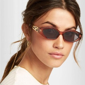 Forma de Ouro Jumping Leopard slim sunglasses Diamond Retro Modern JackJad Mulheres Vintage Brand Design Sun Glasses