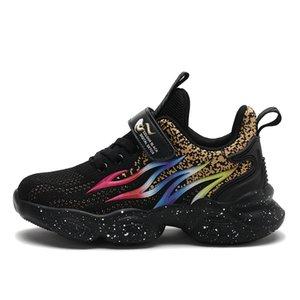 2020 tênis de banda New Flame para crianças Meninos moda casual Crianças Sapatos para Boy Esporte Corredor da criança calça o tamanho UE 27-39 K72