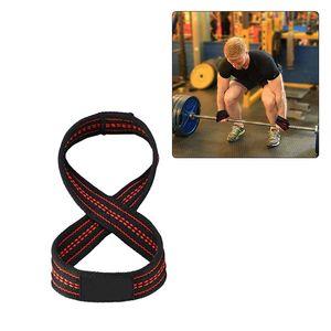 1Pair 8 Lift Gym Подъемных ремни Грузоподъемного Wrist Вес пояс бодибилдинг перчатку Спорт Protecive Аксессуар ремни