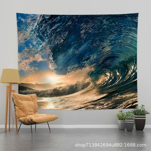 Internet Celebrity Live Explosion Style Scenery Background Cloth Ins Hanging Cloth Bedroom Room Living Room Bedside Tapestry Background Wall
