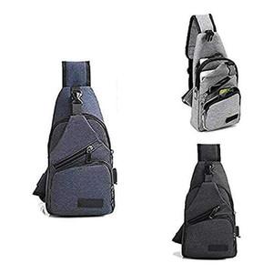 Lightweight Casual Canvas Unbalance Backpack Crossbody Sling Shoulder Bag Chest
