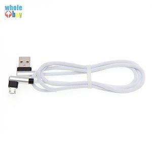 Cable de datos en forma de L 0.25m mayor de la alta calidad de 90 grados Tela Juego de cable Micro / Tipo C USB para Xiaomi Samsung HTC Huawei