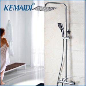 KEMAIDI baño termostático Bañera Ducha Grifo de Agua mezclador grifo 8 de 16 pulgadas cabezal de ducha de lluvia Conjunto de ducha