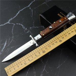 Nuovi coltelli 9 pollici mafia pieghevole esterna tattiche di campeggio serpente d'acciaio difesa coltello a serramanico 440C manico in legno di elevata durezza EDC