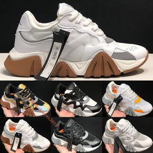 El diseñador italiano Squalo de punto Caminante cadena zapatillas de 3.0 Hombres Mujeres Barocco Homme Imprimir Calzado casual Oro Negro Blanco papá al aire libre Tamaño 36-45