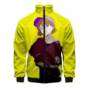 뜨거운 판매 탐정 코난은 칼라 지퍼 자켓 남성 여성 캐주얼 하라주쿠 셔츠 Ainme를 긴 소매 재킷 옷 스탠드 차원