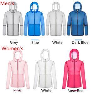 Summer Anti UV Sun-proof Jacket Long Sleeve Sun protective Skin Coat Overshirt Hooded Quick Dry Outerwear Men Women Jacket Top Clothing