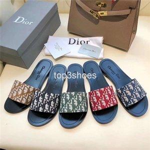 Christian dior slides Oblique slippers Chaussons Marque Sandales Chaussures plates Chaussures Designer Diapo chaussures de basket-ball chaussures de sport tongs par shoe10 KQT05