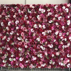 TONGFENG PINK 8pcs lot Artificial silk rose peony 3D flower wall panel wedding backdrop decoration flower runner wedding T200716