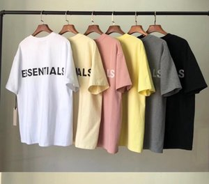 2020 FOG FEAR OF GOD double track 3M reflective letters ESSENTIALS high street style loose men and women short-sleeved T-shirt