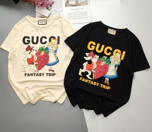 20ss New Arrival Paris designer fashion cartoon fairy tale print Tshirts Short Sleeve Tee Breathable Shirt Streetwear Outdoor Tshirt 7.7