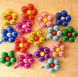 풍선 아름다운 장난감 결혼식 호의 및 선물 아이들의 생일 파티 장식 풍선 SN4486 호일 50cm 다섯 꽃 알루미늄