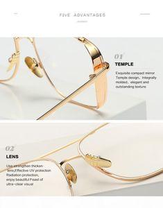 U 2020 Womens Designer Luxtury Golden Frame Clear Sunglasses For Men Women Uv 400 Protection Sun Glassesdr35623