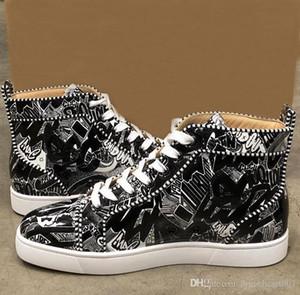 Дизайнер шипованных Шипы Квартиры обувь бренда Red днищ вскользь ботинки luxurys женщин людей партии Lovers натуральная кожа кроссовки размер 36-47 C21