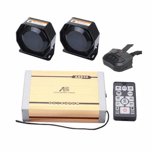 2X100W Propagandistic Electronic Car Siren Kit 20 Tones Wireless Remotes Can Play Custom-Made MP3 Recordings fit for Different Vehicles