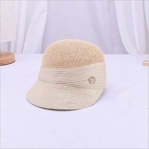 2019 New Summer Straw Paper Sun For Women Breathable Baseball Cap Outdoor Casual Sunshade British Style Equestrian Hat Y200716