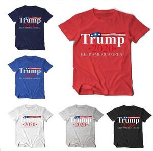 Trump T-shirt Keep America Grand col rond manches courtes T-shirts manches 2020 Président USA Élection Imprimé Sport femme Tee Vêtements LJJP296