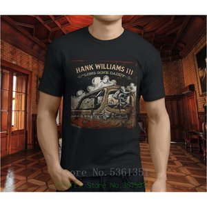 Male Battery Funny Popular Tops New Cotton Hank Williams Iii Long Gone Men's Black T-shirt S - 5XL