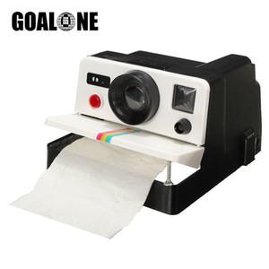 GOALONE Retro Kamera Tuvalet Kağıdı Tutucu Plastik Tuvalet Kağıdı Kutu Kağıtlığı Dağıtıcı Ev Banyo Aksesuarları
