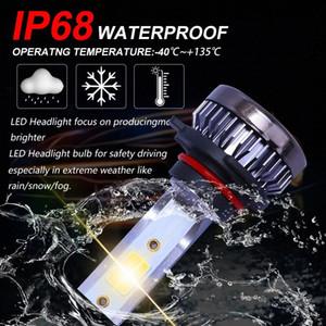Vehemo H7 H4 H11 лампы фар автомобиля Фара Фара LED Super Bright LED Противотуманные фары лампы Авто CERP #