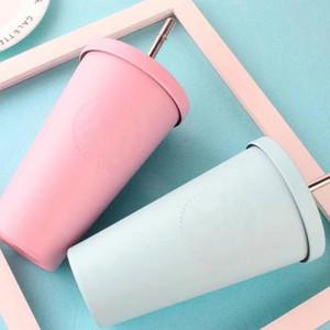 Coppa Il nuovo acciaio inossidabile tazza di colore della caramella INS Desktop tazza di caffè Tazza di moda coppia 300ml