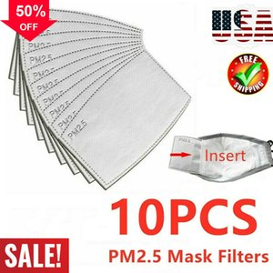 Pmtw P2 Pm2.5 Face Mask Filter Activated Carbon Breathing (only Filters) 10 Pcs lot designer face mask mouth