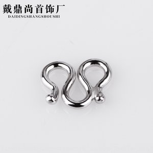 925 sterling silver diy necklace bracelet M character buckle DIY accessories head accessory accessories