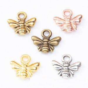 Оптовая сплава способа насекомых очаровывает многоцветный животных Bee Подвески 10 * 11мм 200шт AAC1040
