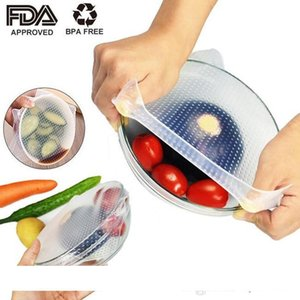 Food Grade Keeping Fresh Wrap Reusable high stretch Silicone Food Wraps Seal Vacuum Cover Stretch Lid Environmental Kitchen Tools